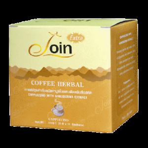กาแฟ Join Extra กาแฟคาปูโนผสมเห็ดหลินจือ ขนาด 10 ซอง