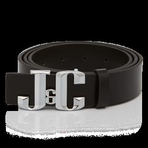 ชุดเข็มขัด J&C PU หนังพื้นดำและหัวเข็มขัด (ช)